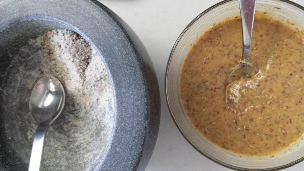fertiger Rub und Sauce
