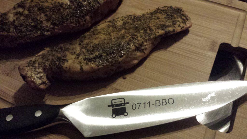 ein schönes scharfes Messer ;-)