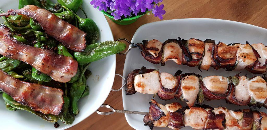 Hähnchen-Spieße Saltimbocca Style