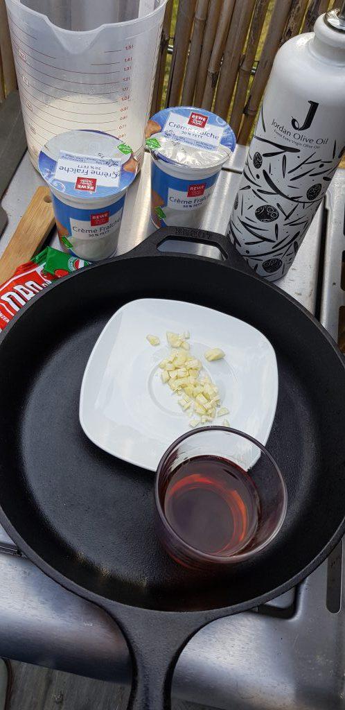 Zutaten für die Metaxa-Sauce